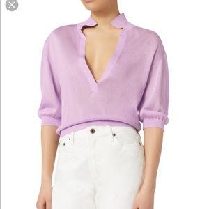Tibi Crispy Polo Pullover